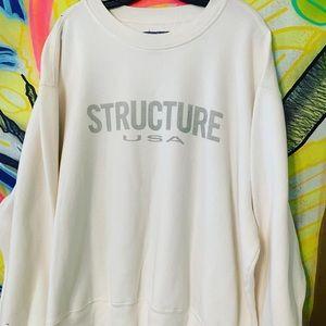 Vintage Structure USA Spellout Sweatshirt Sz XL